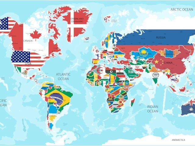 Nomes dos países em Inglês