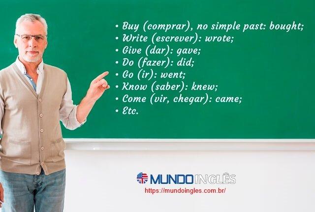 O simple past -verbos irregulares